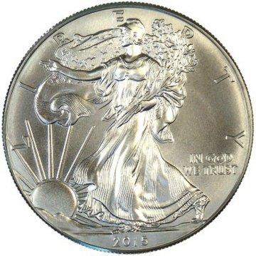 2015 1 oz American Silver Eagle Coin - Gem BU