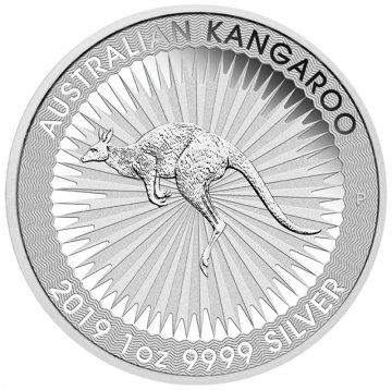 2019 1 oz Australian Silver Kangaroo Coin - Gem BU