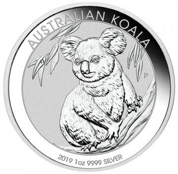 2019 1 oz Australian Silver Koala Coin - Gem BU
