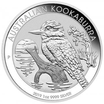 2019 1 oz Australian Silver Kookaburra Coin - Gem BU