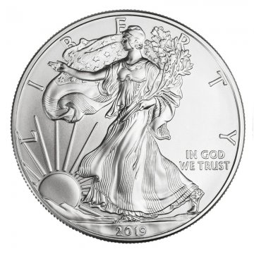 2019 Silver Eagle obverse