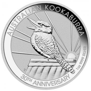 2020 1 oz Australian Silver Kookaburra Coin - 30th Anniversary - Gem BU