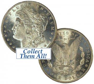 1880 Morgan Silver Dollar Coin - BU