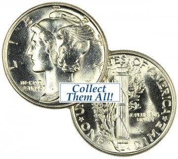 1940-S Mercury Silver Dime Coin - Choice BU