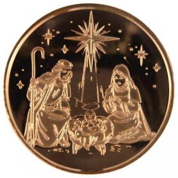 1 oz Copper Round - Christmas Series - Nativity Design