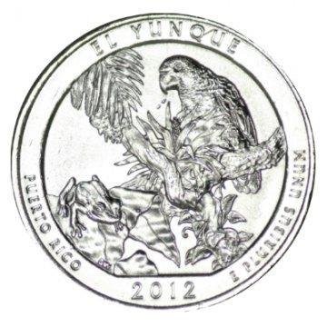 2012 El Yunque Quarter Coin - S Mint - BU