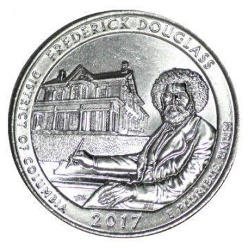 2017 Frederick Douglass Quarter Coin - P or D Mint - BU