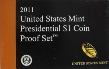 2011 U.S. Presidential Dollar Proof Coin Set