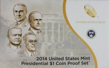 2014 U.S. Presidential Dollar Proof Coin Set