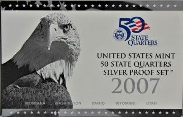 2007 U.S. State Quarter Silver Proof Coin Set