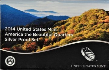 2014 America the Beautiful Silver Quarters Proof Coin Set