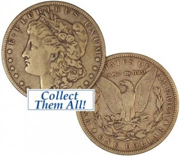 1887 Morgan Silver Dollar Coin - Borderline Uncirculated