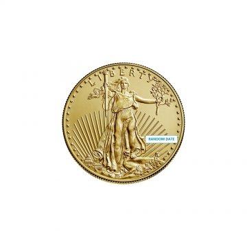 1/10 oz American Gold Eagle Coin - Random Date - Gem BU