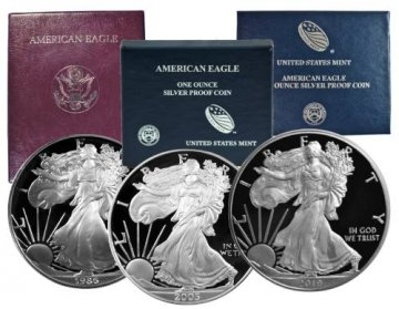 1986-2019 33-Coin Complete 1 oz American Proof Silver Eagle Coin Set - Gem Proof (w/ Boxes & COAs)