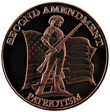 1 oz Copper Round Second Amendment Design