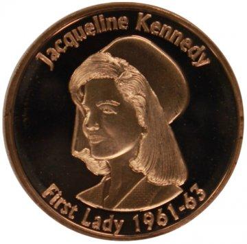 1 oz Copper Round - Jackie Kennedy Design