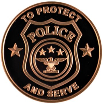 1 oz Copper Round - Police Department Design