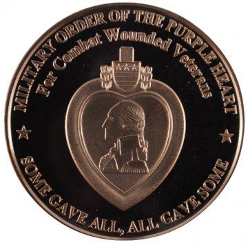 1 oz Purple Heart Copper Round
