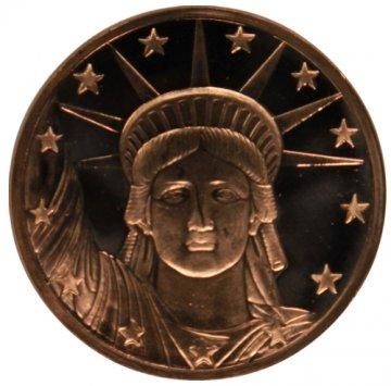 1 oz Copper Round - Statue of Liberty Design