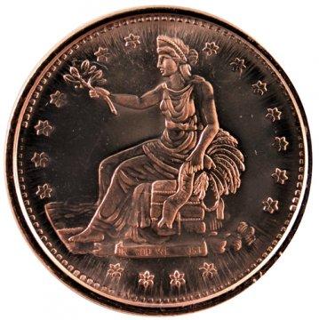 1 oz Copper Round - Trade Dollar Design