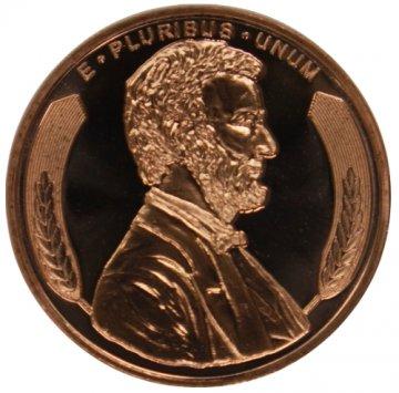 1 oz Copper Round - Lincoln Wheat Cent Design