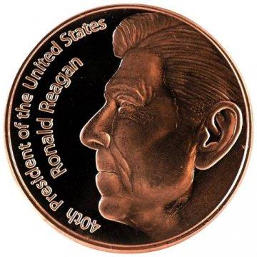 1 oz Copper Round - Ronald Reagan Design
