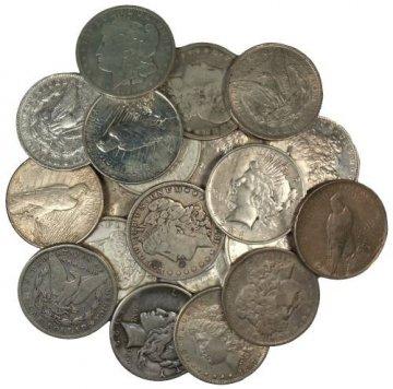 1878-1935 Morgan & Peace Silver Dollar Coins - Random Date - Cull