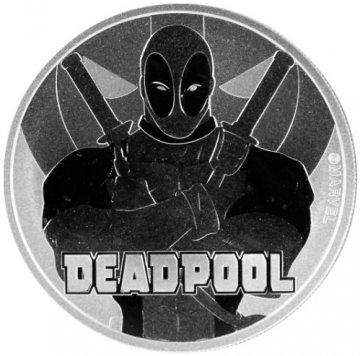 2018 1 oz Tuvalu Silver Marvel Series - Deadpool Coin - Gem BU