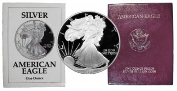 1992-S 1 oz American Proof Silver Eagle Coin - Gem Proof