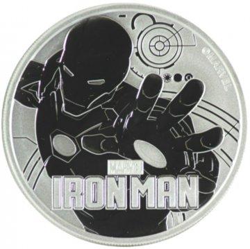 2018 1 oz Tuvalu Silver Marvel Series - Iron Man Coin - Gem BU