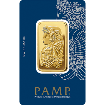 PAMP Suisse Lady Fortuna 1 oz Gold Bar - (Veriscan®, In Assay)
