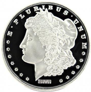 1 oz Silver Round - Sunshine Minting - Morgan Dollar Design (Mint Mark SI™)