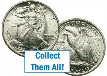 1945-S Walking Liberty Silver Half Dollar Coin - BU