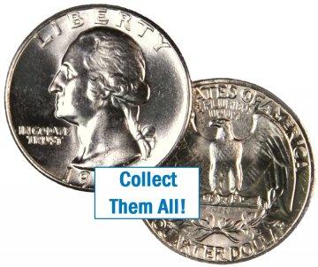 1952 Washington Silver Quarter Coin - Choice BU